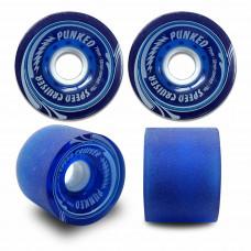 70mm Longboard Skateboard x 4 Cruiser Wheels 78A Blue Gel