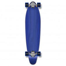 Longboard Maple Upgraded Kicktail Blue Skateboard