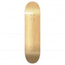 "Blank Skateboard Deck 7.75"" Wood Black"