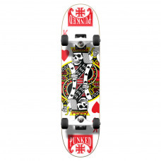 """Skateboard 7.75"""" Maple Upgraded Cards King of Hearts"""