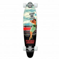 Longboard Maple Upgraded Kicktail Route 66 Skateboard