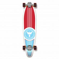 Longboard Maple Upgraded Kicktail Red White Blue Skateboard
