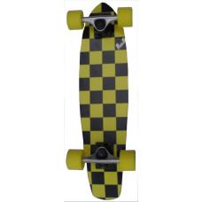 Micro Cruiser Maple Upgraded Yellow Black Chequer