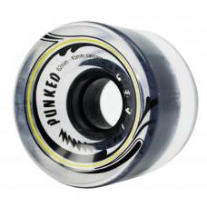 62mm Longboard Skateboard x 4 Cruiser Wheels 78A Gel Clear
