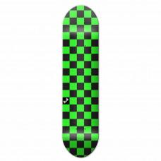 "Skateboard Deck 8"" Green Black Chequer"