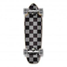 Mini Cruiser Skateboard Maple Silver Black Chequer