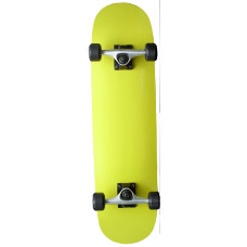 """Skateboard 7.75"""" Maple Upgraded Painted Yellow"""