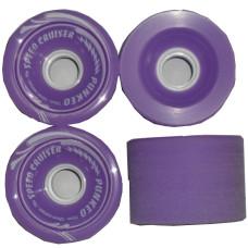 70mm-Longboard-Skateboard-x-4-Cruiser-Wheels-78A-Purple