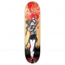 "Skateboard Deck 8"" Girl Samurai Red Dragon"